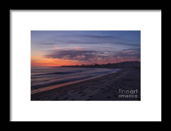 San Onofre Framed Print featuring the photograph San Onofre - Last Light by Steven Dillon