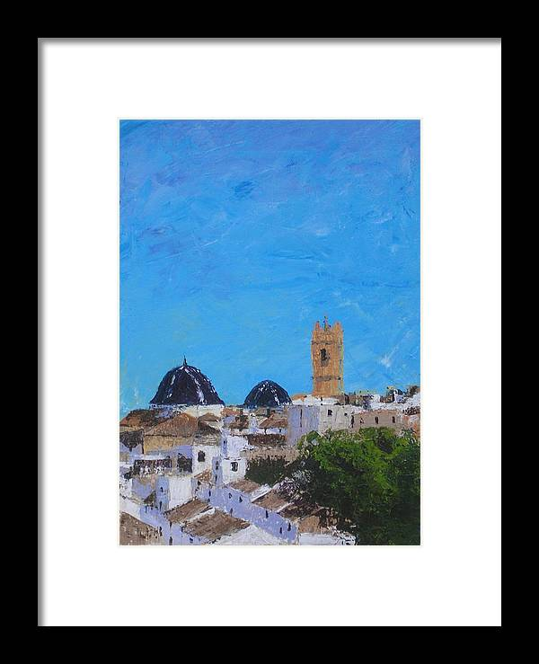 Church Framed Print featuring the painting San Roc Church by Graham Flowerdew