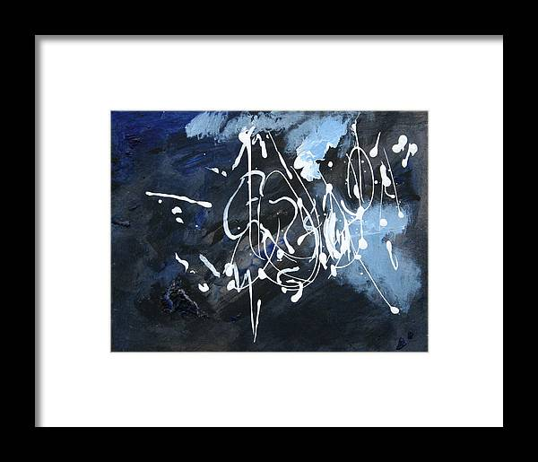 Abstract Framed Print featuring the painting Sanctuary by Andy Waudby
