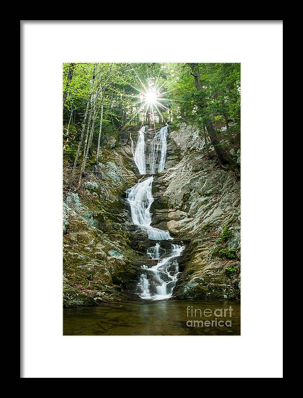 Brook Framed Print featuring the photograph Waterfall - Sanctuary At Savoy Mountain by JG Coleman