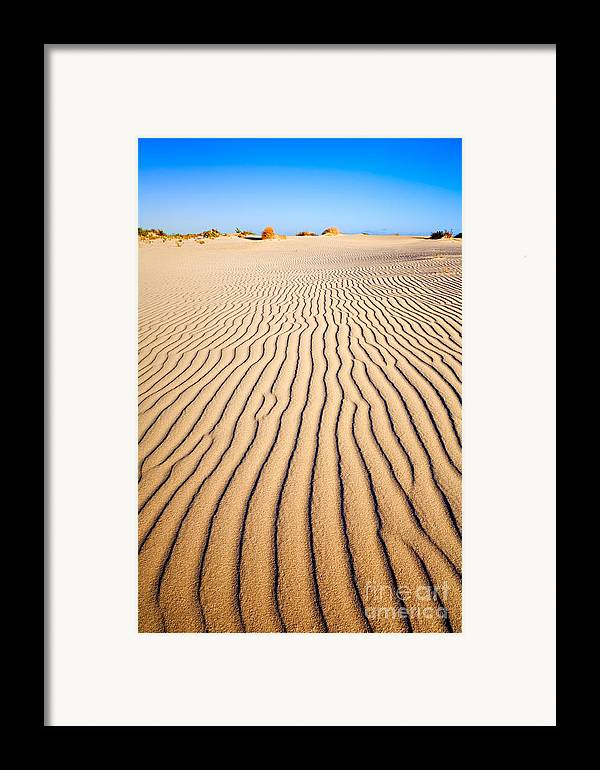 Sand Framed Print featuring the photograph Sand Dunes At Eucla by Colin and Linda McKie