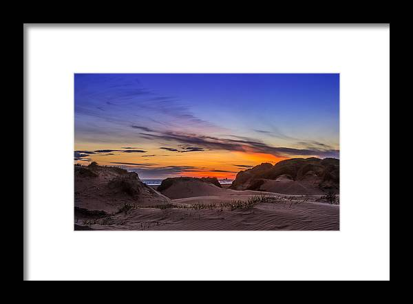 Sunset Framed Print featuring the photograph Sand Dunes Sunset by Paul Madden