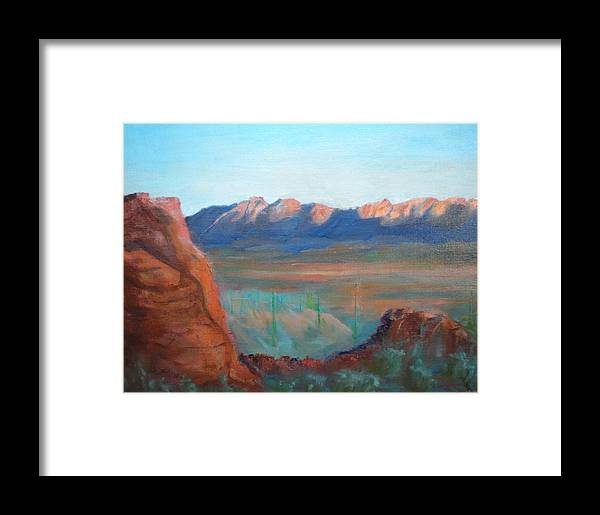 Landscape Framed Print featuring the painting Sand Hollow Panorama by Bryan Alexander
