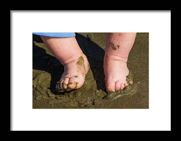 Sand Framed Print featuring the photograph Sand Is Squishy by Alexander Ferguson