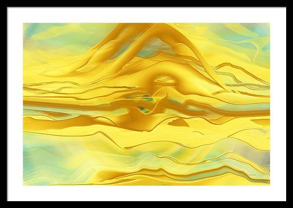 Sand Mounds Desert Framed Print featuring the digital art Sand Mounds Desert by Roy Erickson