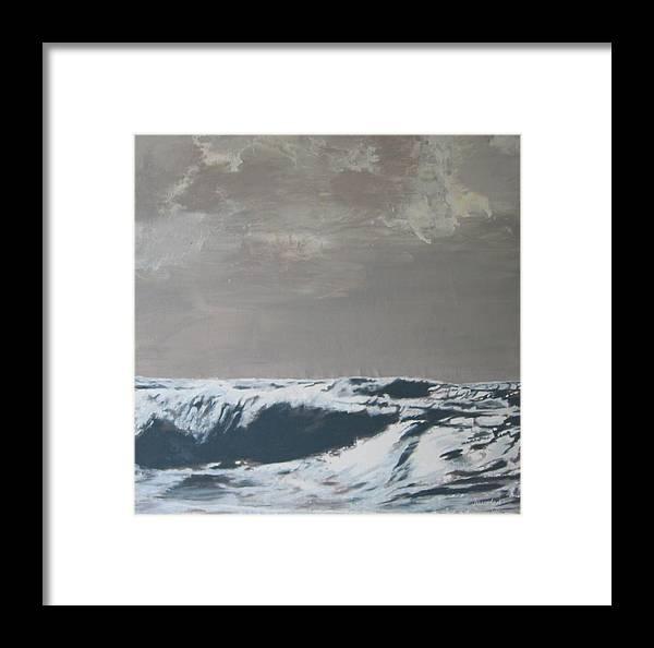 Sandbank Framed Print featuring the painting Sandbank Vi Braun by Eckhard Besuden