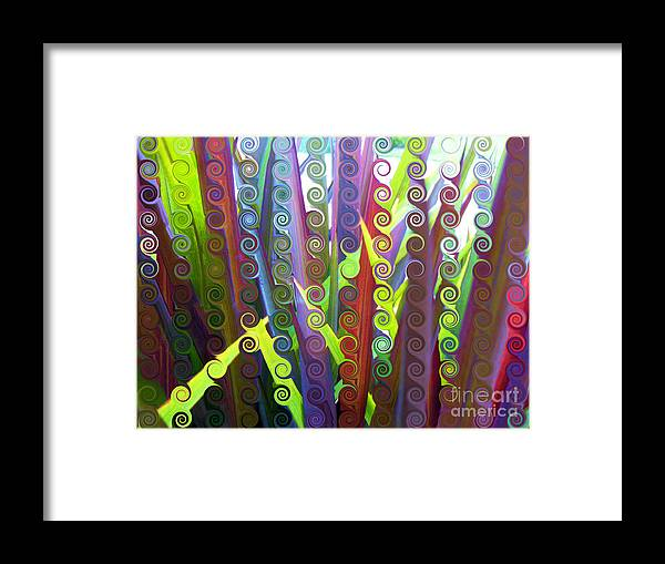 Multi-colored Framed Print featuring the digital art Sanderson by Angelica Pizano