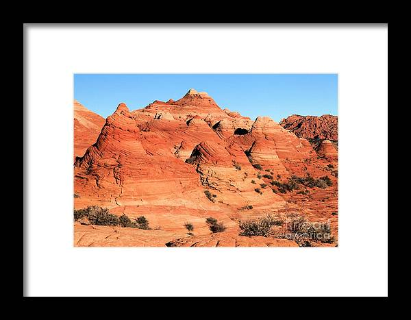 The Wave Framed Print featuring the photograph Sandstone Amphitheater by Adam Jewell