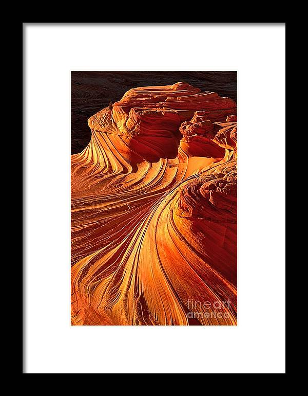 Coyote Buttes Framed Print featuring the photograph Sandstone Silhouette by Adam Jewell