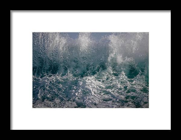Sandy Beach Hawaii Framed Print featuring the photograph Sandy Beach Backwash by Richard Cheski