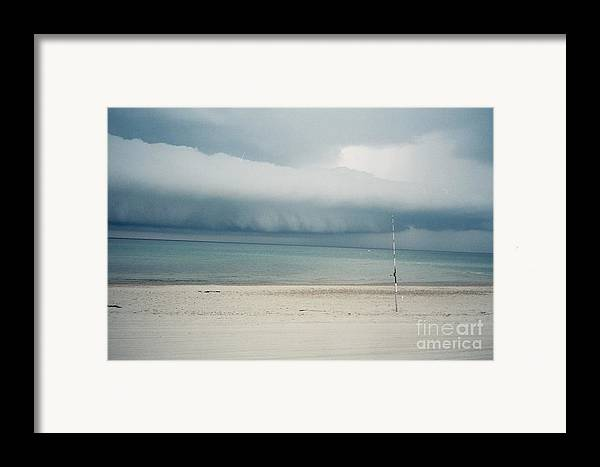 Sandy Neck Beach Framed Print featuring the tapestry - textile Sandy Neck Beach Sandwich by Lisa Marie Germaine