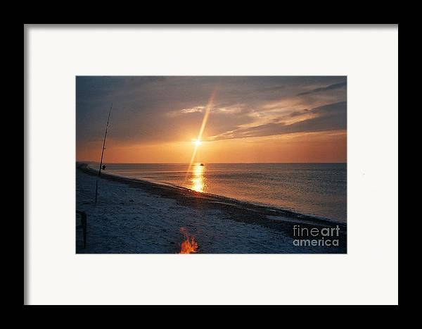 Sandy Neck Beach Framed Print featuring the tapestry - textile Sandy Neck Beach Sunset by Lisa Marie Germaine