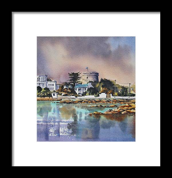 Dublin Framed Print featuring the painting Sandycove by Roland Byrne