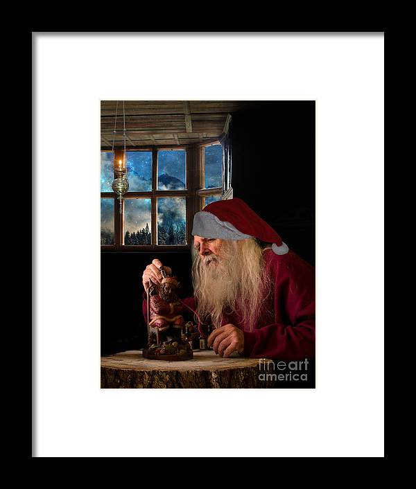 Santa Framed Print featuring the photograph Santa At Work by Jim Hatch