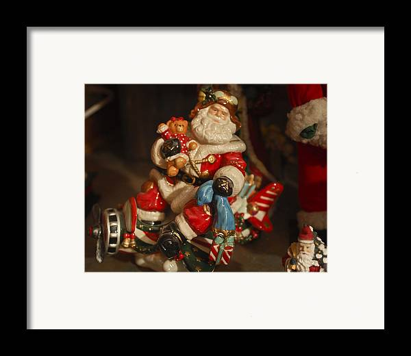 Santa Claus Framed Print featuring the photograph Santa Claus - Antique Ornament -05 by Jill Reger
