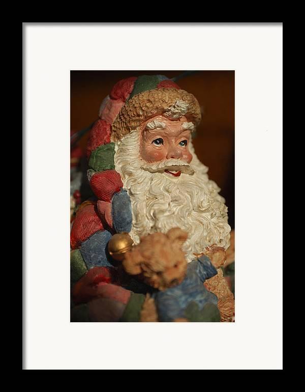 Santa Claus Framed Print featuring the photograph Santa Claus - Antique Ornament - 09 by Jill Reger