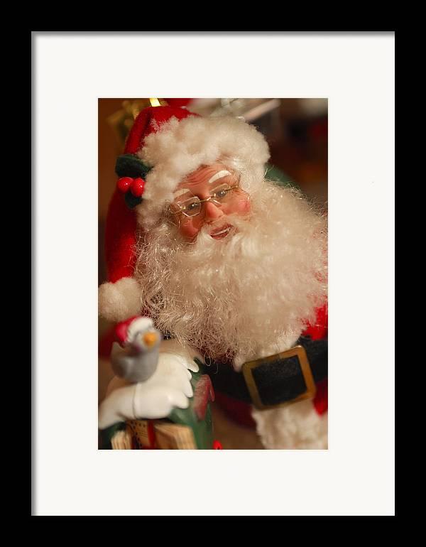 Santa Claus Framed Print featuring the photograph Santa Claus - Antique Ornament - 11 by Jill Reger