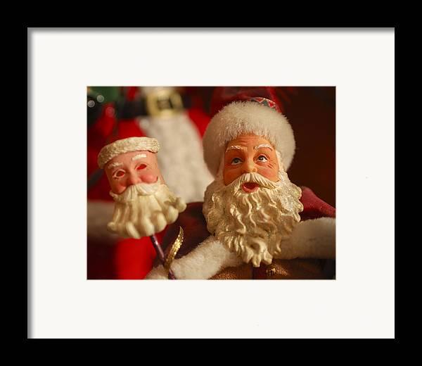 Santa Claus Framed Print featuring the photograph Santa Claus - Antique Ornament - 12 by Jill Reger