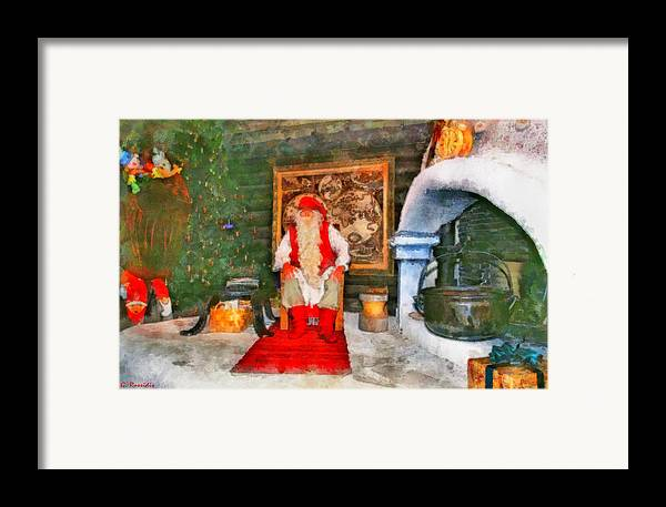 Rossidis Framed Print featuring the painting Santa Claus by George Rossidis