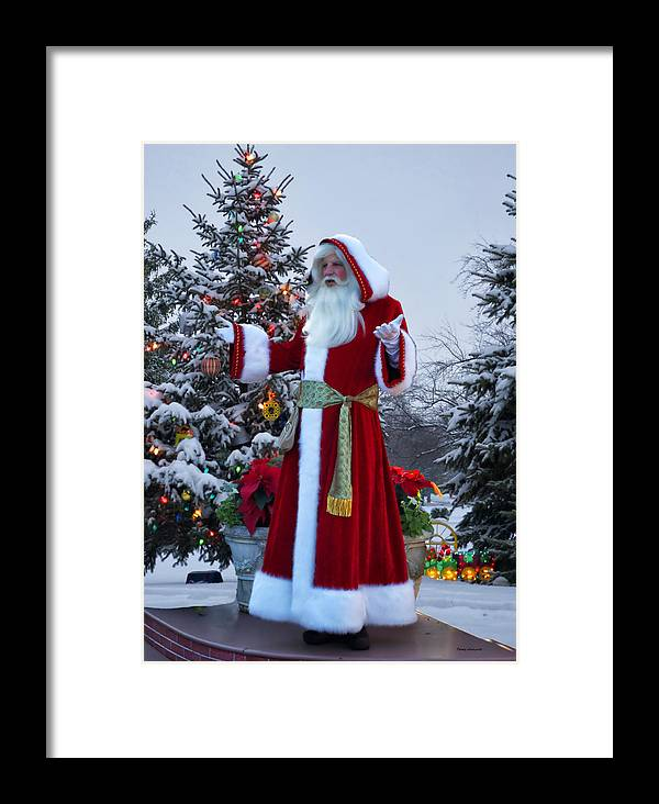 Santa Framed Print featuring the photograph Santa Claus by Thomas Woolworth