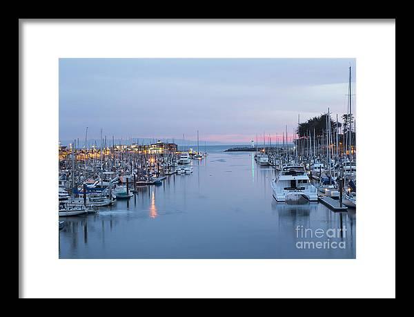 Santa Cruz Harbor at Dusk by Theresa Ramos-DuVon