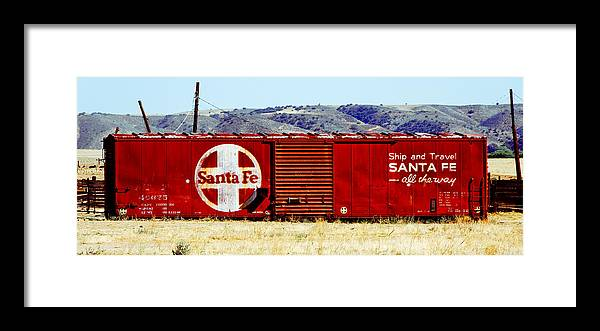 Darin Volpe Railroad Framed Print featuring the photograph Santa Fe - All The Way by Darin Volpe