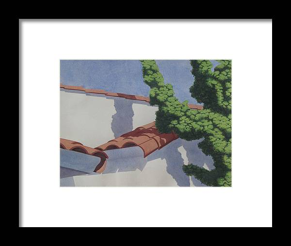 Los Angeles Framed Print featuring the painting Santa Monica by Elizabeth Halfacre