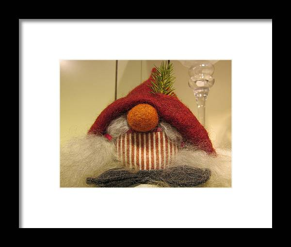 Santa Claus Framed Print featuring the photograph Santas Nose by Rosita Larsson