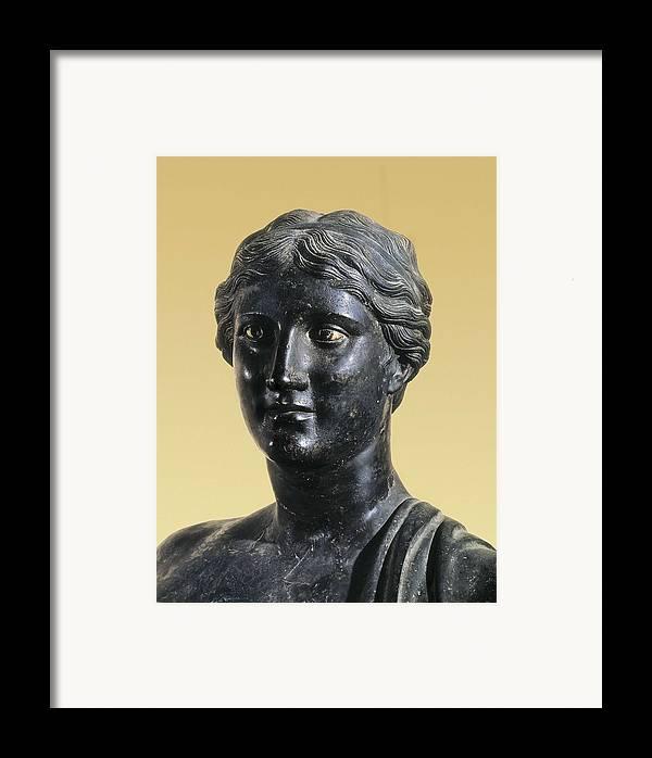 Portrait Framed Print featuring the photograph Sappho 612-545 Bc. Greek Art. Sculpture by Everett