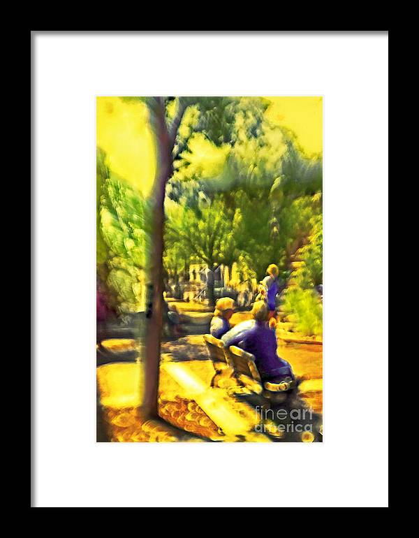 People Framed Print featuring the photograph Saturday Afternoon by Madeline Ellis