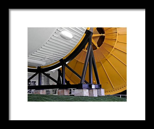 Saturn V Framed Print featuring the photograph Saturn V Launch Vehicle Closeup by Kirsten Giving