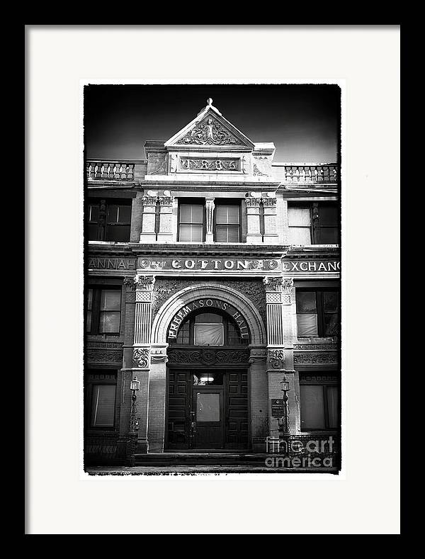 Savannah Cotton Exchange Framed Print featuring the photograph Savannah Cotton Exchange by John Rizzuto