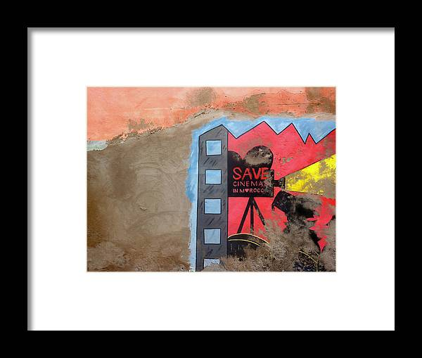 Areyarey Framed Print featuring the photograph Save Cinema In Morocco by A Rey