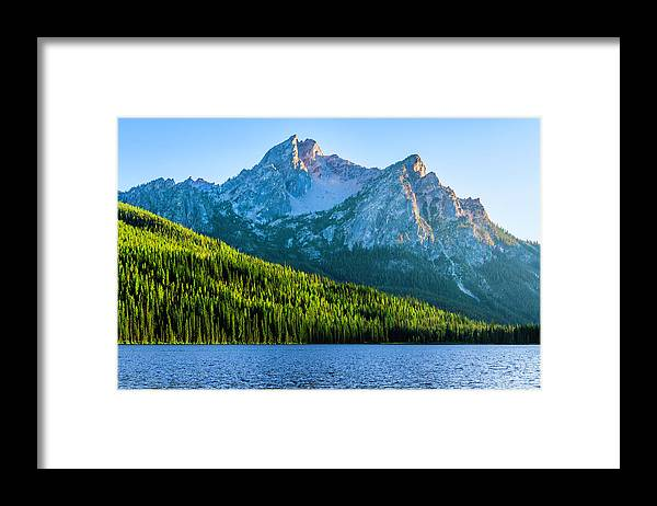 Scenics Framed Print featuring the photograph Sawtooth Mountains And Stanley Lake by Dszc