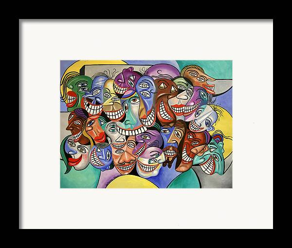 Say Cheese Framed Prints Framed Print featuring the painting Say Cheese by Anthony Falbo