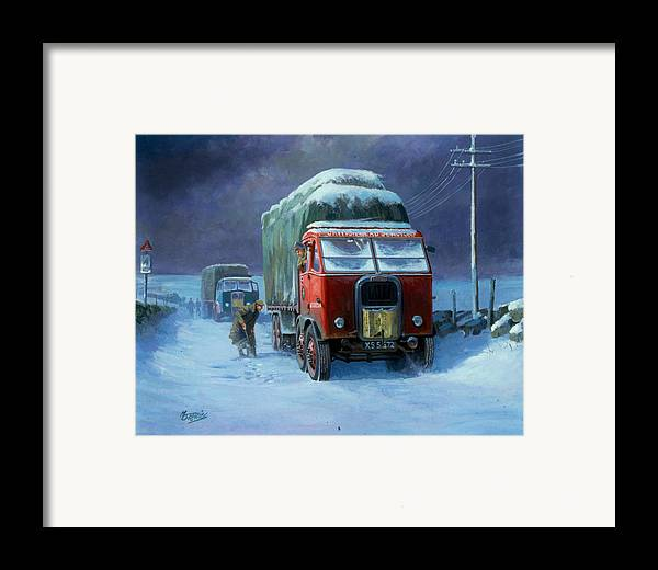 Commission A Painting Framed Print featuring the painting Scammell R8 by Mike Jeffries