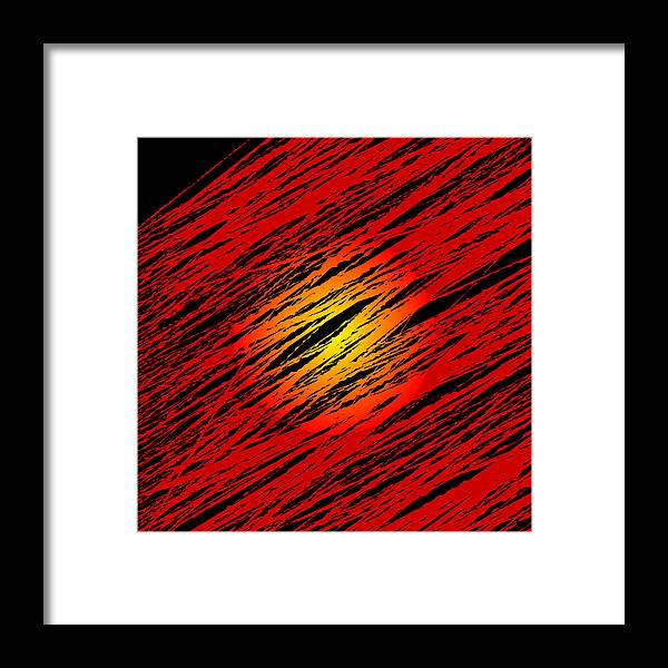 Random Sun Algorithm Code Digital Rithmart Sunrise Sunset Nature Abstract Framed Print featuring the digital art Scapes.5.5 by Gareth Lewis