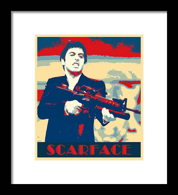 Scarface Framed Print By Dominic Piperata