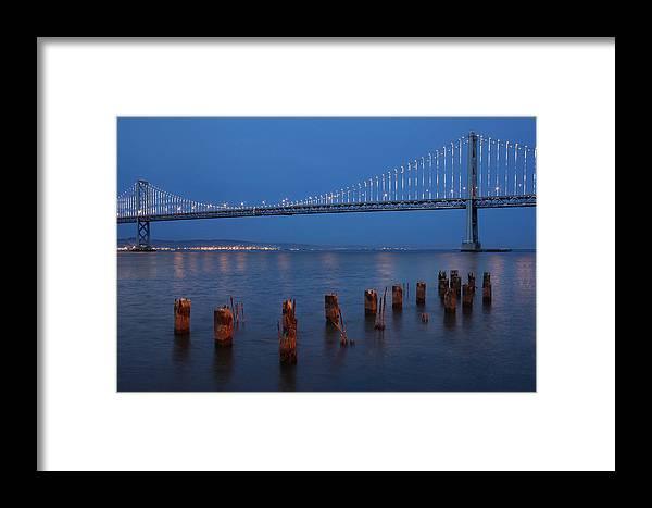 San Francisco Bay Bridge Framed Print featuring the photograph Scenic Bay Bridge by Dan Peak