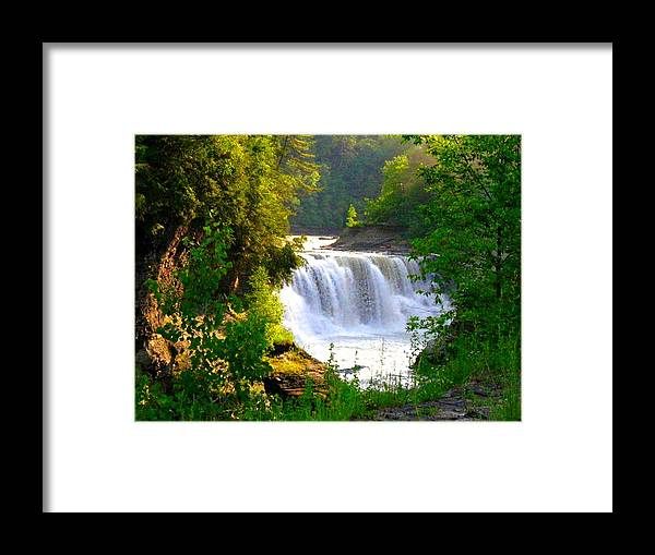 Falls Framed Print featuring the photograph Scenic Falls by Rhonda Barrett