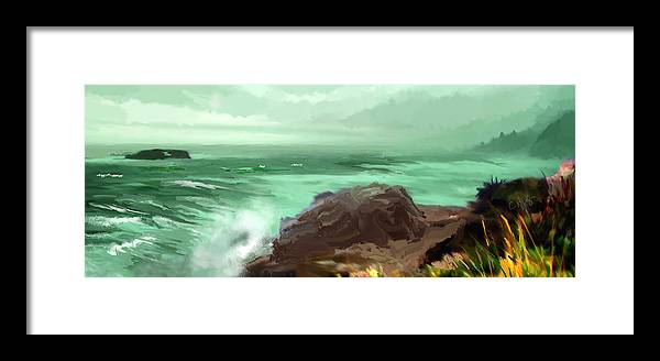 Pacific Framed Print featuring the photograph Scenic Pacific by Dale Stillman