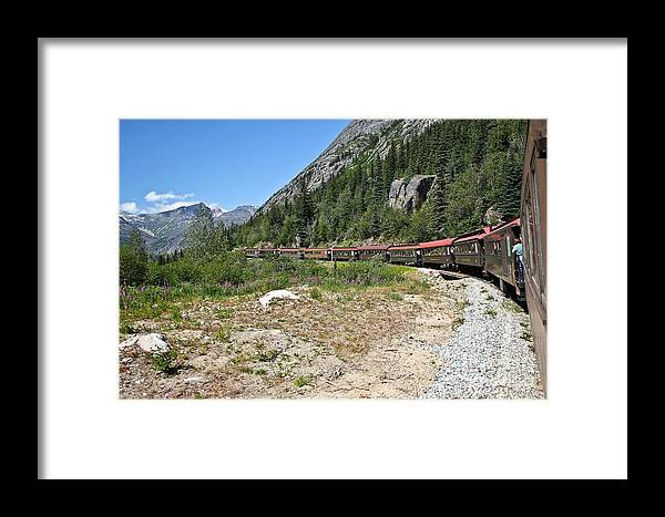 Alaska Framed Print featuring the photograph Scenic Railroad by Sophie Vigneault