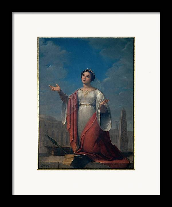 Catherine Framed Print featuring the photograph Schiavoni Natale, St Catherine, 1828 by Everett