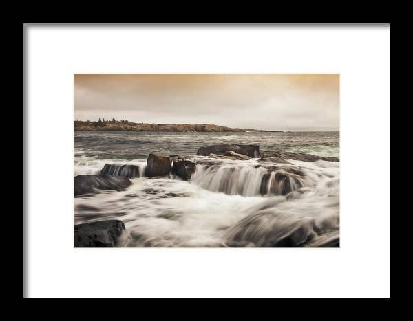Schoodic Point Framed Print featuring the photograph Schoodic Point Acadia National Park by Don Powers
