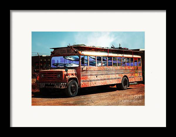 Wingsdomain Framed Print featuring the photograph School Bus 5d24927 by Wingsdomain Art and Photography