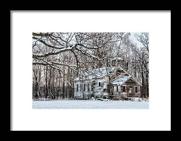 Old School House Framed Print featuring the photograph School Out Forever by Paul Freidlund