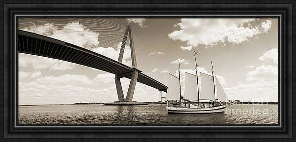 Schooner Pride and Cooper River Bridge by Dustin K Ryan