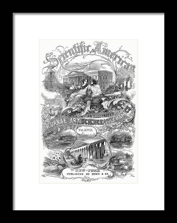 1867 Framed Print featuring the painting Scientific American, 1867 by Granger