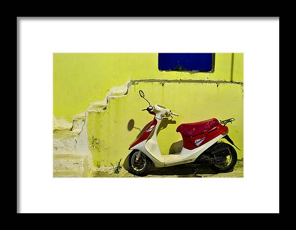Scooter Framed Print featuring the photograph Scooter by Ivan Slosar