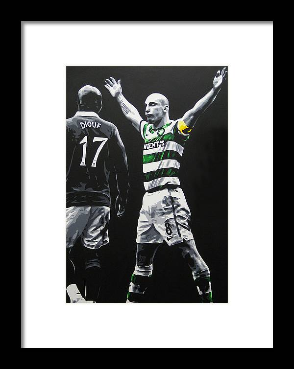 Scott Brown Framed Print featuring the painting Scott Brown - Celtic Fc by Geo Thomson